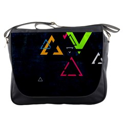 Abstract Triangles Resize Messenger Bags