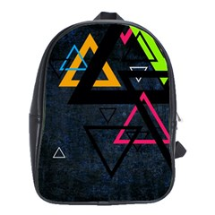 Abstract Triangles Resize School Bag (xl)