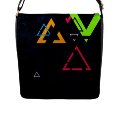 Abstract Triangles Resize Flap Messenger Bag (l)