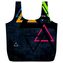 Abstract Triangles Resize Full Print Recycle Bags (l)