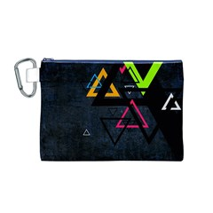 Abstract Triangles Resize Canvas Cosmetic Bag (m)
