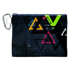 Abstract Triangles Resize Canvas Cosmetic Bag (xxl)
