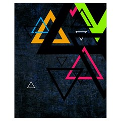 Abstract Triangles Resize Drawstring Bag (small)