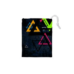 Abstract Triangles Resize Drawstring Pouches (xs)