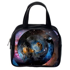 Abstract Abstract Space Resize Classic Handbags (one Side)
