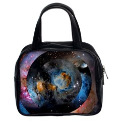 Abstract Abstract Space Resize Classic Handbags (2 Sides)