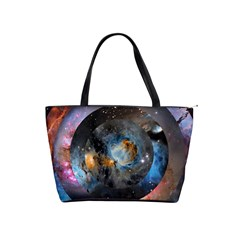 Abstract Abstract Space Resize Shoulder Handbags