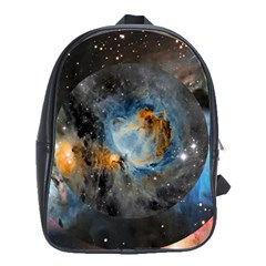 Abstract Abstract Space Resize School Bag (large)