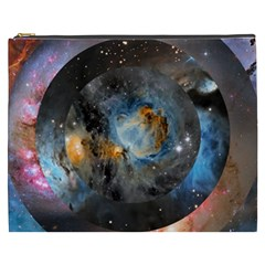 Abstract Abstract Space Resize Cosmetic Bag (xxxl)