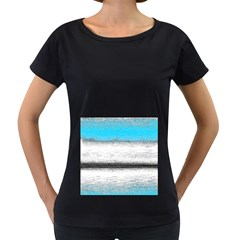 Ombre Women s Loose Fit T Shirt (black)