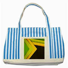 Abstraction Lines Stripes Striped Blue Tote Bag