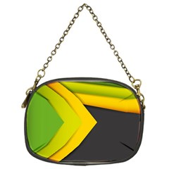Abstraction Lines Stripes Chain Purses (one Side)