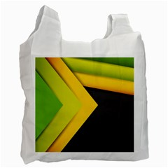 Abstraction Lines Stripes Recycle Bag (two Side)