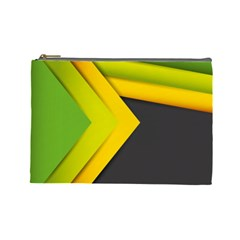 Abstraction Lines Stripes Cosmetic Bag (large)