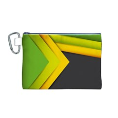 Abstraction Lines Stripes Canvas Cosmetic Bag (m)