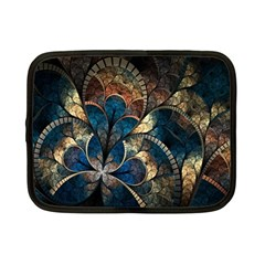 Abstract Pattern Dark Blue And Gold Netbook Case (small)