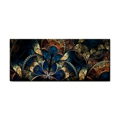 Abstract Pattern Dark Blue And Gold Cosmetic Storage Cases