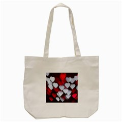 Highlights Hearts Texture  Tote Bag (cream)