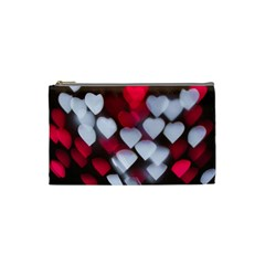Highlights Hearts Texture  Cosmetic Bag (small)
