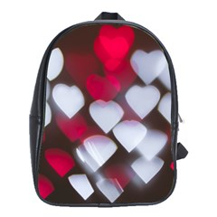 Highlights Hearts Texture  School Bag (large)