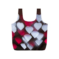 Highlights Hearts Texture  Full Print Recycle Bags (s)