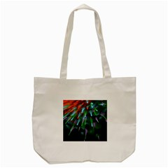 Explosion Rays Fractal Colorful Fibers Tote Bag (cream)