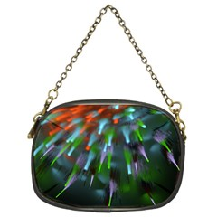Explosion Rays Fractal Colorful Fibers Chain Purses (two Sides)