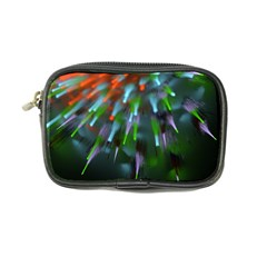 Explosion Rays Fractal Colorful Fibers Coin Purse