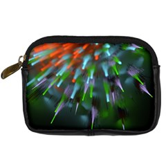 Explosion Rays Fractal Colorful Fibers Digital Camera Cases