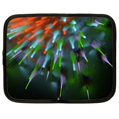 Explosion Rays Fractal Colorful Fibers Netbook Case (xl)