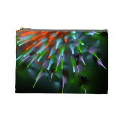 Explosion Rays Fractal Colorful Fibers Cosmetic Bag (large)