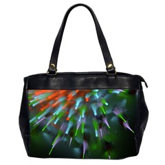 Explosion Rays Fractal Colorful Fibers Office Handbags (2 Sides)