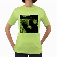 Ombre Women s Green T Shirt