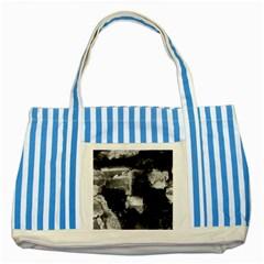 Ombre Striped Blue Tote Bag