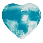 Ombre Heart Ornament (Two Sides) Front
