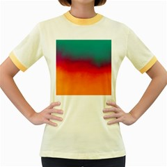 Ombre Women s Fitted Ringer T Shirts