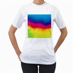 Ombre Women s T Shirt (white) (two Sided)