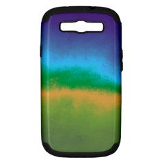 Ombre Samsung Galaxy S Iii Hardshell Case (pc+silicone)