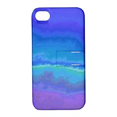 Ombre Apple Iphone 4/4s Hardshell Case With Stand