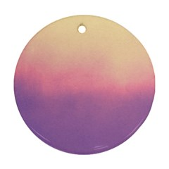 Ombre Round Ornament (two Sides)