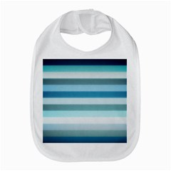 Texture Stripes Horizontal Blue Gray Bib