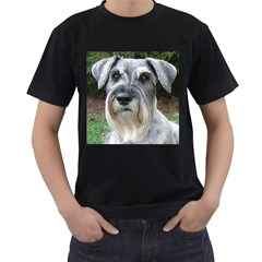Standard Schnauzer 2 Men s T Shirt (black) (two Sided)