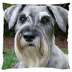 Standard Schnauzer 2 Large Cushion Case (two Sides)