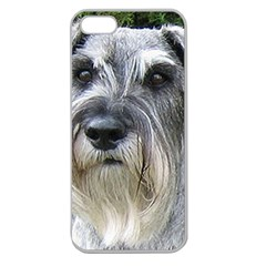 Standard Schnauzer 2 Apple Seamless Iphone 5 Case (clear)