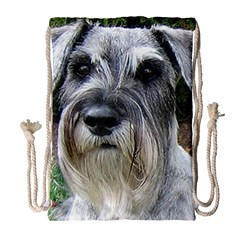 Standard Schnauzer 2 Drawstring Bag (large)