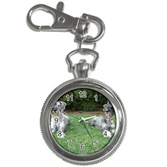 2 Standard Schnauzers Key Chain Watches