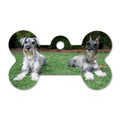2 Standard Schnauzers Dog Tag Bone (two Sides)