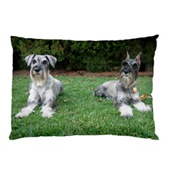 2 Standard Schnauzers Pillow Case