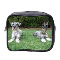 2 Standard Schnauzers Mini Toiletries Bag 2 Side
