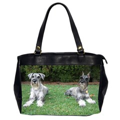 2 Standard Schnauzers Office Handbags (2 Sides)